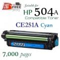 Monster HP 504A Cyan (CE251A) 藍色代用碳粉 Toner