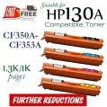 Monster HP 130A Set (1套4個特惠裝) CF350A , CF351A , CF352A , CF353A
