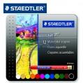 德國STAEDTLER施德樓223 M12 12色頂級水溶性蠟筆油畫棒鐵盒裝