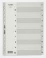 BANTEX A4 灰色膠質索引分類 1-10 #6210