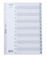 BANTEX A4 灰色膠質索引分類 1-15 #6218