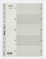 BANTEX A4 灰色膠質索引分類 1-5 #6205