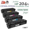 Monster HP CF510A CF511A CF512A CF513A (204A) 代用碳粉 Toner 一套