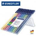 德國STAEDTLER施德樓323 10色三角筆桿水彩筆套裝正姿EN71安全