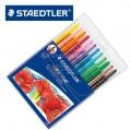 德國STAEDTLER施德樓221 NWP12 12色蠟筆旋轉伸縮繪畫塗鴉EN71
