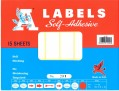 A Labels 15張裝 (各款尺寸)