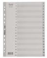 Bantex 6213 A4 (1-20)<灰色>膠質索引分類