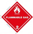 2類 FLAMMABLE GAS 標貼 (每包100個)