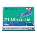 MAX 2115 1/4-1M 拱型針(1000枚)