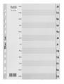 BANTEX A4 月份灰色膠質索引分類 JAN-DEC #6219