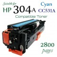 Monster HP 304A Cyan (CC531A) 藍色代用碳粉 Toner