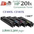 Monster HP 201X Set (4盒特惠裝) CF400X , CF401X , CF402X , CF403X