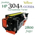 Monster HP 304A Yellow (CC532A) 黃色代用碳粉 Toner