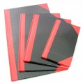 紅黑面硬皮簿-200頁(8.5