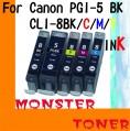 Monster PGI-5黑色,C/M/Y彩色 4個裝