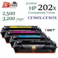 Monster HP CF500X CF501X CF502X CF503X (202X) 代用碳粉 Toner 一套