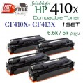 Monster HP 410X Set (CF410X-CF413X) 高容量代用碳粉 Toner 一套