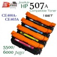 Monster HP 507A Set (CE400A-CE403A) 高容量代用碳粉 Toner 一套