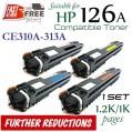 Monster HP 126A Set (1套4個特惠裝) CE310A , CE311A , CE312A , CE313A