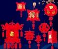 新年燈籠(無紡布掛飾)