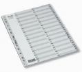 BANTEX A4 灰色膠質索引分類 1-54 #6215