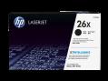 HP 26X 高打印量黑色原廠 LaserJet 碳粉盒(CF226X)