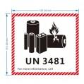UN 3481 危險品LABEL (每包100個)